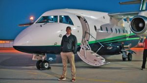 StraightLine Private Air Founder Tom Filippini with Jet